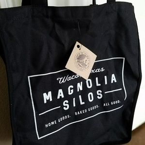 Authentic Magnolia Silos Black Canvas Tote